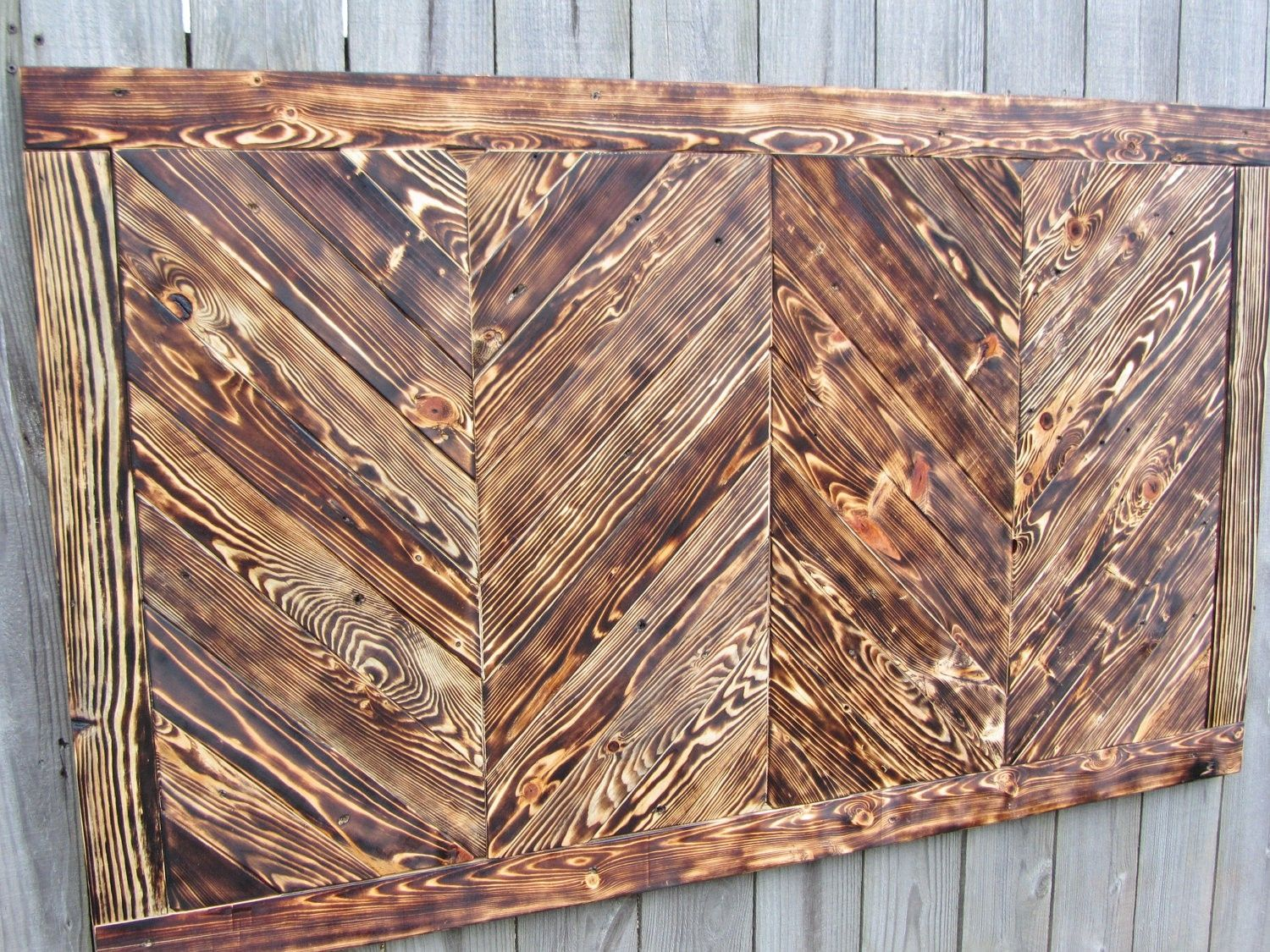 hand crafted chevron wood wall art made from reclaimed