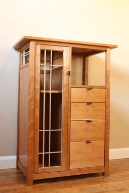 Custom Made Cherry Display Cabinet