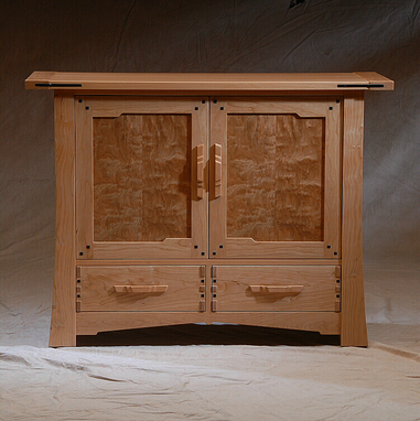 Custom Made Greene & Greene Media Cabinet