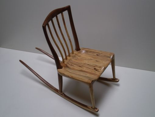 Custom Made Spalted Maple And Walnut Rocker