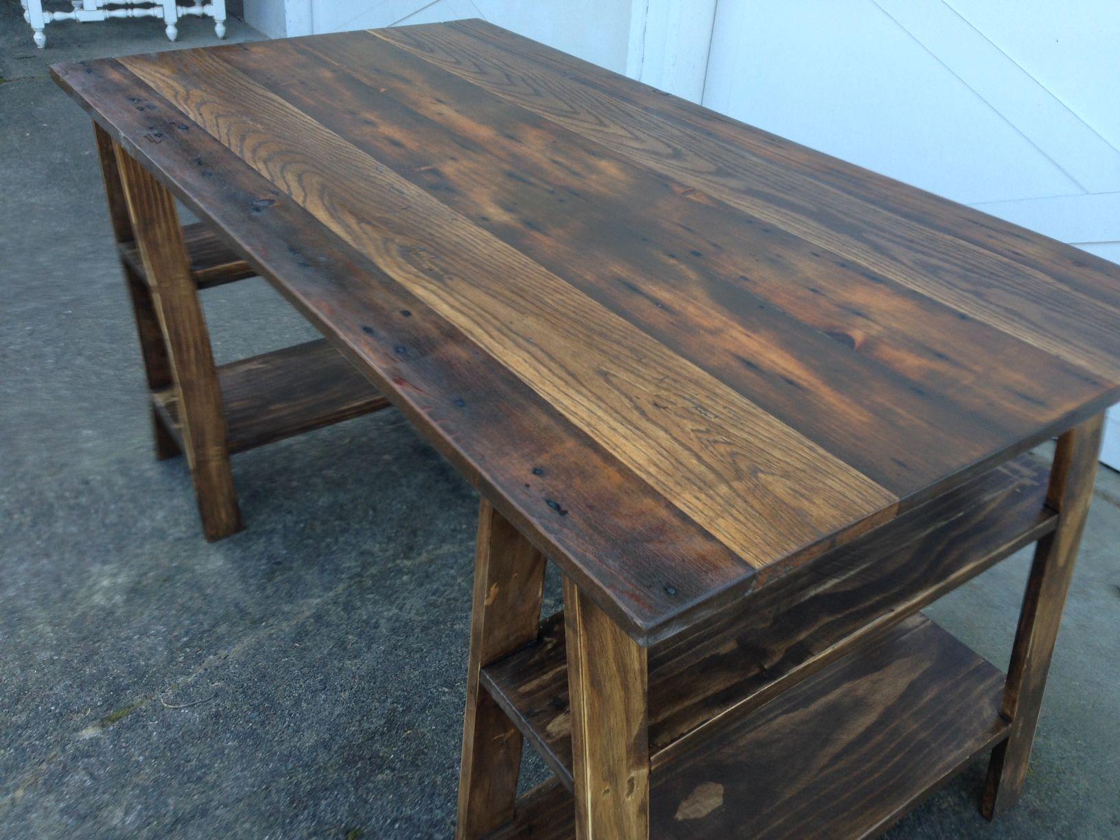 Hand Made Desk handmade sawhorse desktimber & ore | custommade