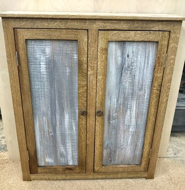 Custom Made Rustic Entryway Storage Cabinet