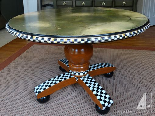 Custom Made Hand Painted Table Base