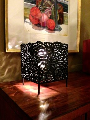 Custom Made Cut Steel Lamp