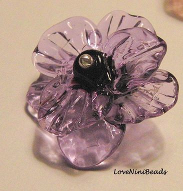 Custom Made Glass Flower Pendant