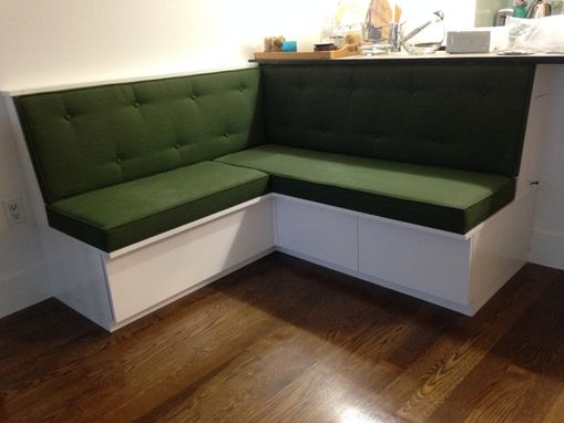 Custom Made Upholstered Banquette With Storage