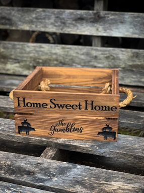 Custom Made Wooden Crate, Crate, Custom Crate, Wooden Box, Farmhouse Decor