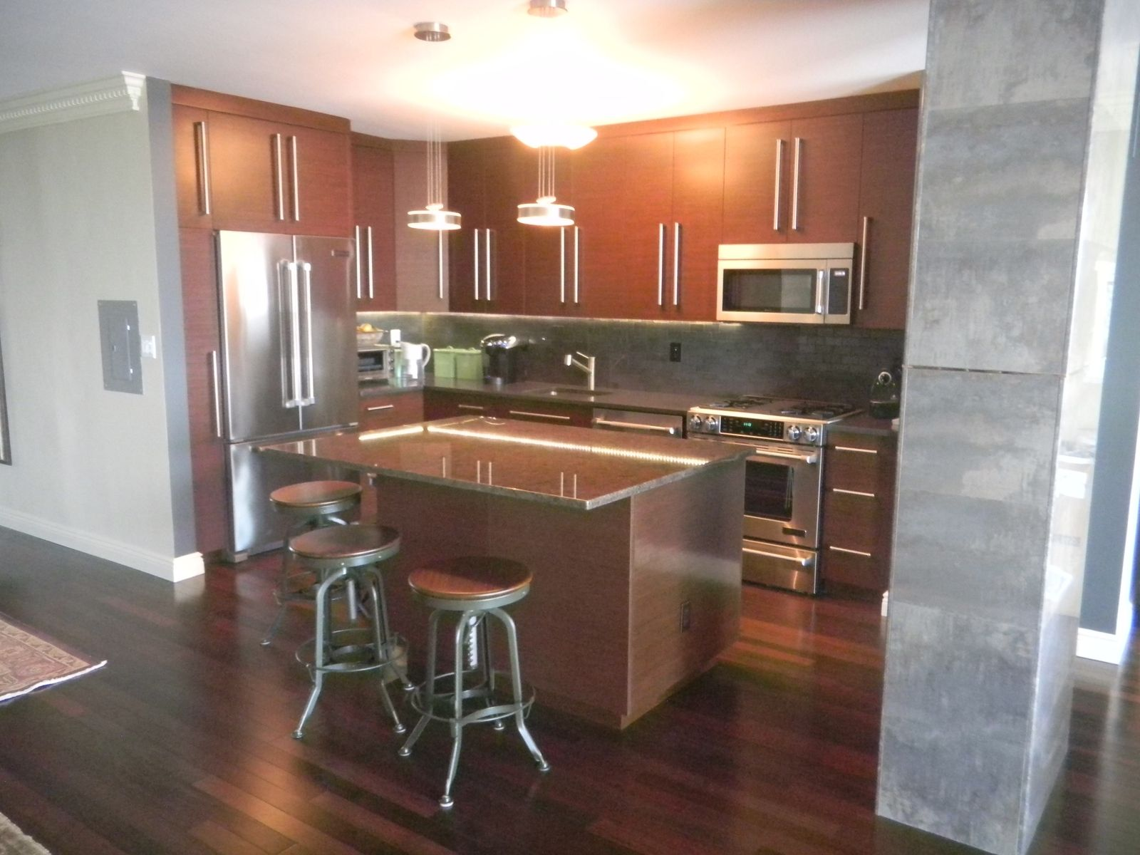 Hand Made Reconstituted Wenge Kitchen by NMK Custom Millwork