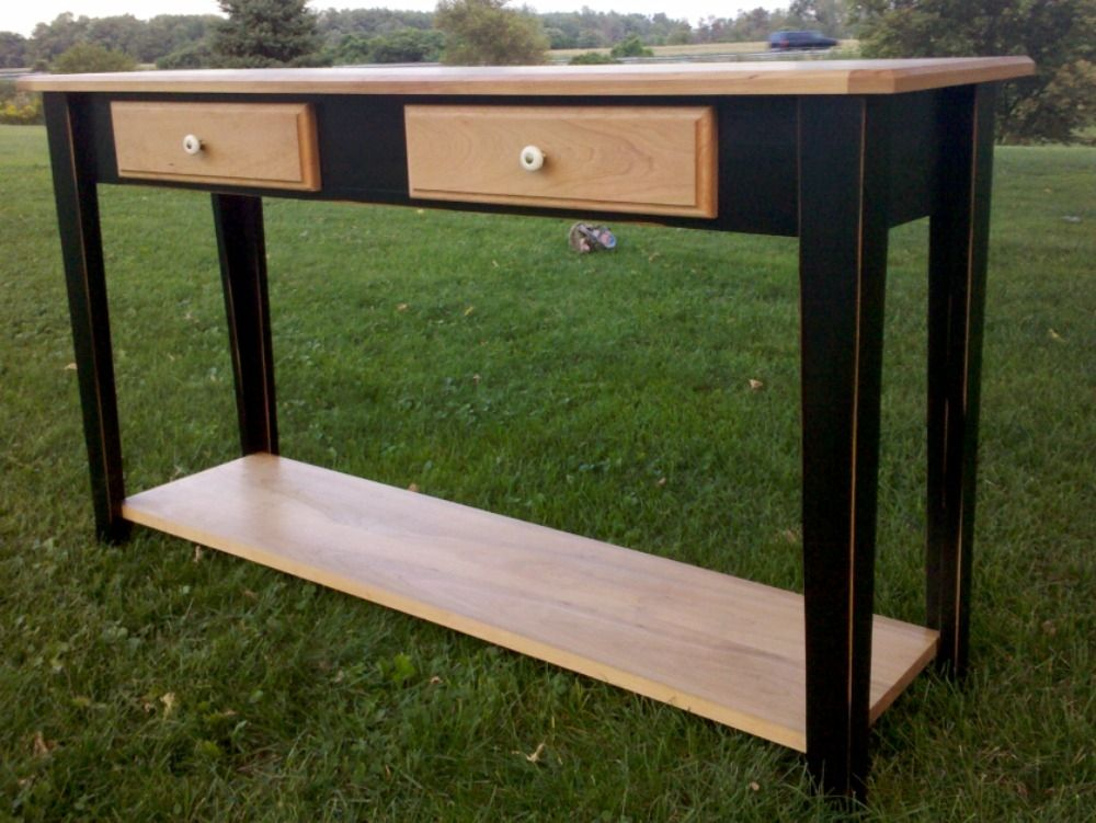 Hand Crafted Sofa Table by Windy Woods Woodworking and ...