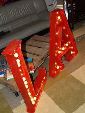 Custom Made Large Huge Movie Marquee Letter Bulb Channel Any Letter Light Up Vintage