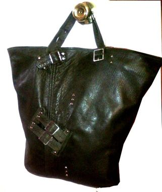 Custom Made Upcycled Leather Shoulder Bag