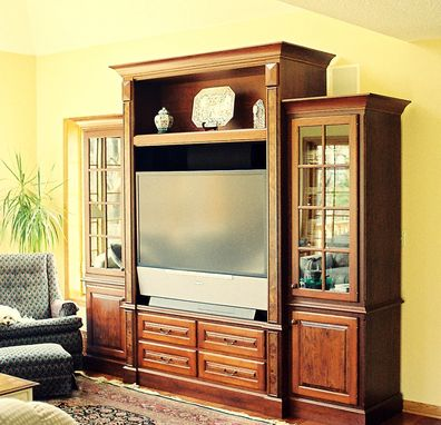 Custom Made Entertainment Centers In Maple, Cherry, & Oak