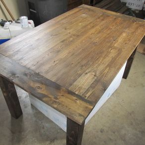 farmhouse table by jared greer - Kitchen Tables Wood