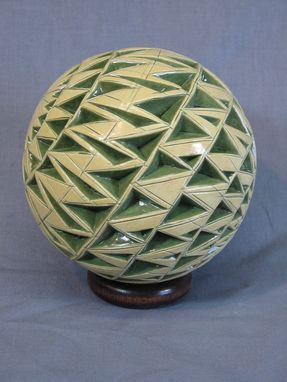 Custom Made Yellow/Green Carved Sphere