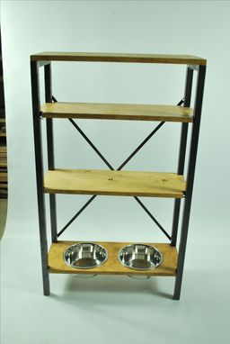 Custom Made Dog Bowl Stand, Dog Feeding Station, Organized Pet Station, Pet Decor, Pet Furniture