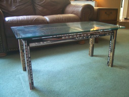 Custom Made Hockey Stick Coffee Table