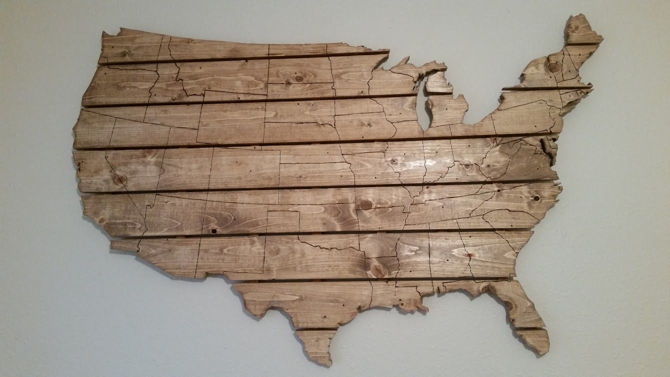 Buy A Hand Crafted Usa Map Large Wooden Wall Art Made To Order From