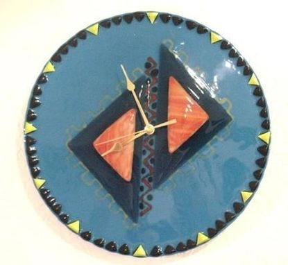 Custom Made Fused Glass Pyramid Clock