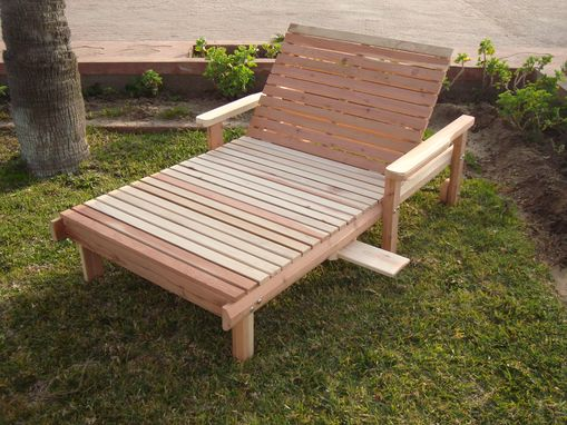 Custom Made Best Redwood Wide Beach Chaise Lounge