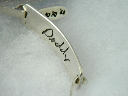 Custom Made Double Sided Handwriting Bracelet