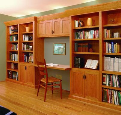 Custom Made Cherry Home Office Built-In