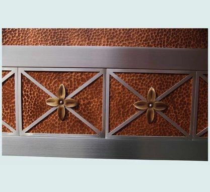 Custom Made Copper Range Hood With Flower Applique & Skirt