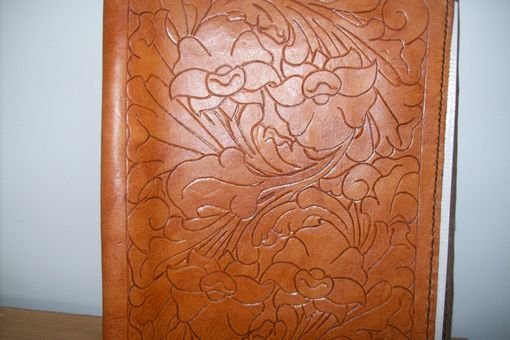 Custom Made Custom Leather Portfolio With Sheridan Design