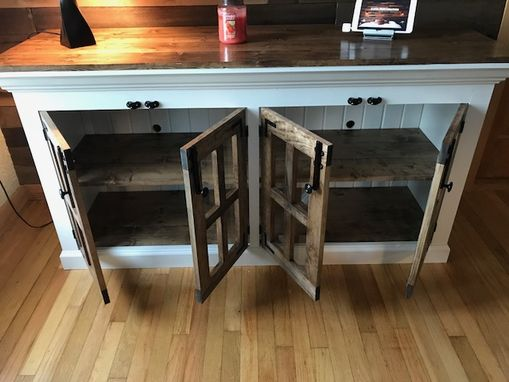 Custom Made Farmhouse Style Tv Stand