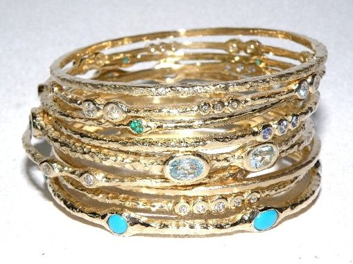 Custom Made Recycled Gold Bracelets