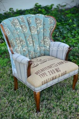 Custom Made The Blue Lady Chair