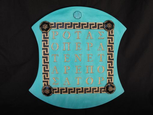 Custom Made Greek Sator Square Tablet.