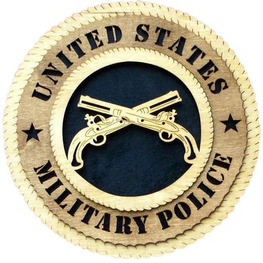 Custom Made Military Police Wall Tribute, Military Police Hand Made Gift