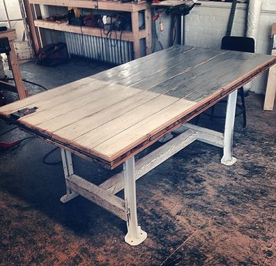 Custom Made Barn Door Table