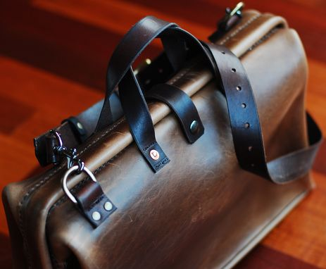 Custom Made Unique Leather Briefcase, Leather Duffle Bag, Leather Dslr Bag.