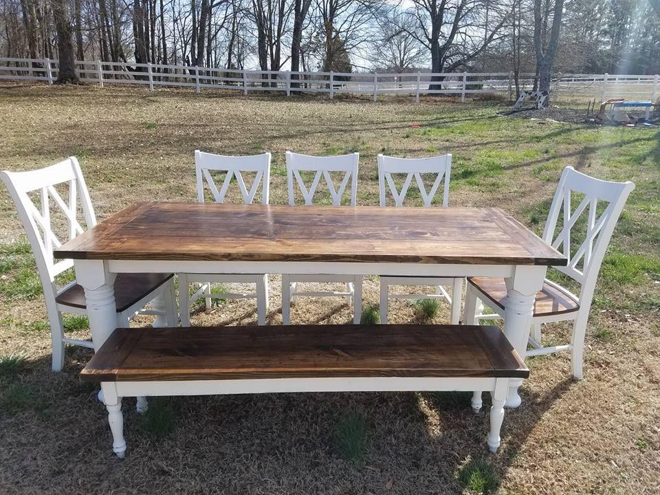 Custom Bishop Style Farmhouse Table By Geoffs Farmhouse Tables Custommade Com