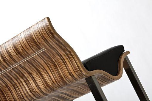 Custom Bent Laminated Wood Barstool By Jg Custom Design