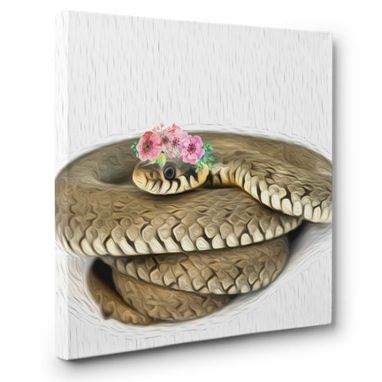 Custom Made Snake Canvas Wall Art