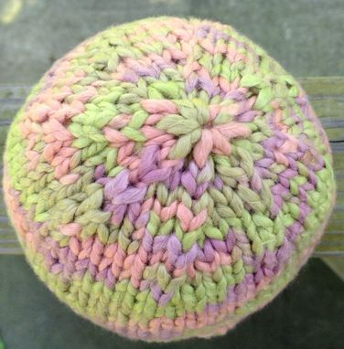 Custom Made Organic Cotton Baby Hat Knit Pink Purple Green Newborn