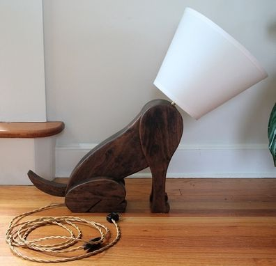Custom Made Dog Lamp