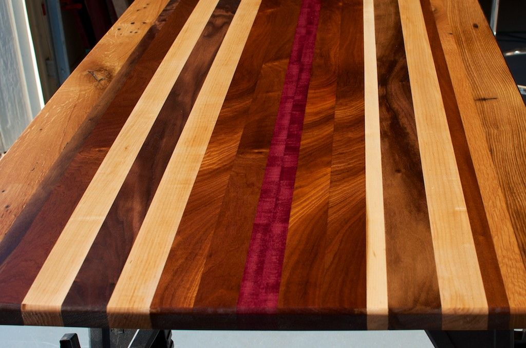 Hand Crafted Reclaimed Wood Countertop Custom Tabletop Unique Desktop By Blowing Rock
