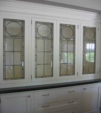 Custom Made Leaded Glass Cabinet Inserts
