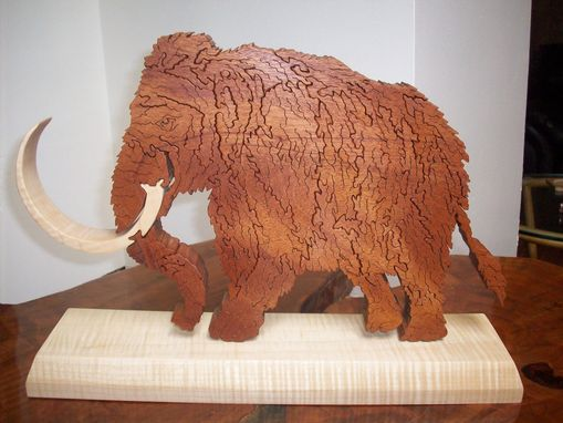 Custom Made Wood Mammoth Puzzle And Stand
