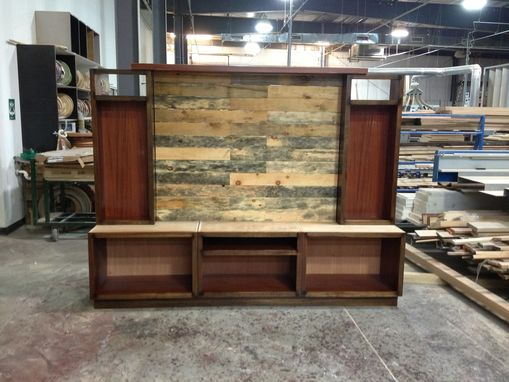Custom Made Custom Entertainment Center With Pallet Wood