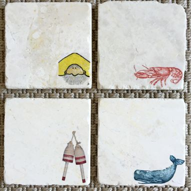 Custom Made New England Custom Stone Coasters (Set Of 4)