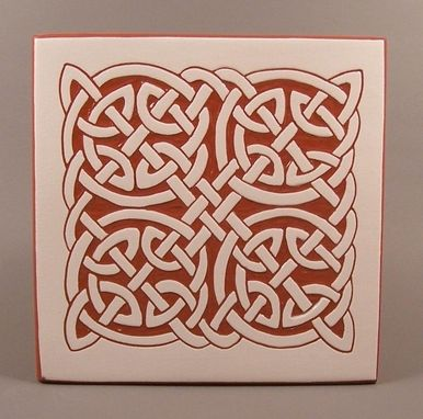 Custom Made Celtic Round Knot Tile Trivet