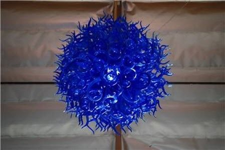 Custom Made Anemone Hand Blown Glass Chandelier - Island