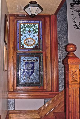 Custom Made Stained/Leaded Glass Windows For Residence.