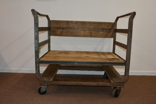 Custom Made New Bedford Bench With Wheels