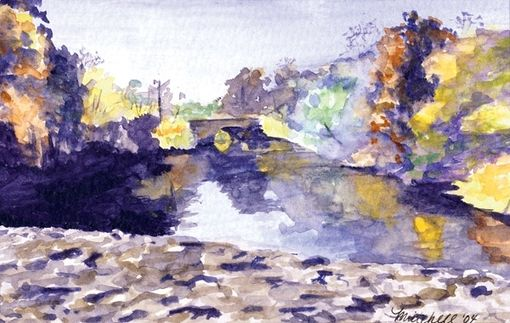 "Custom Made ""Mystic River In Fall"""