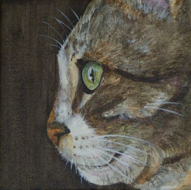Custom Made Hand Painted Pet Portrait 'Felix'